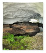 Ice Cave At The Mountains Fleece Blanket