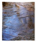 Ice Cold Nature Abstract Fleece Blanket