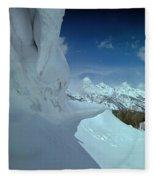 1m9340-ice Cornices, Jackson Hole Fleece Blanket