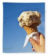 Ice Cream Cone Fleece Blanket