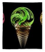 Ice Cream Cones 5 Flavors Fleece Blanket