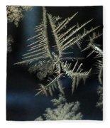 Ice Crystals Fleece Blanket