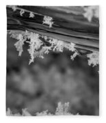 Ice Crystals Frozen In The River Fleece Blanket