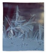 Ice Crystals Of Winter Fleece Blanket