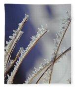 Ice Crystals On Fireweed Fairbanks  Alaska By Pat Hathaway 1969 Fleece Blanket