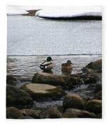 Ice Edges Fleece Blanket