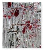 Ice Fence Fleece Blanket