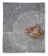 Ice Fishing Hole 10 Fleece Blanket