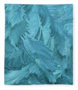 Ice Patterns Formed On Glass Fleece Blanket
