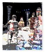 Ice Sculptured Nativity Scene Posterized Fleece Blanket