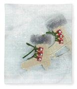 Ice Skates Fleece Blanket