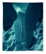 Ice Snow Natural Formation Austria Fleece Blanket