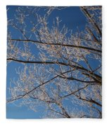 Ice Storm Branches Fleece Blanket