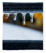 Ice Teeth On Colors Fleece Blanket