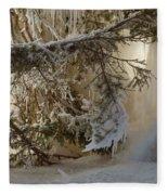 Ice Wall Fleece Blanket