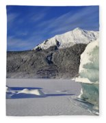 Iceberg And Mount Mcginnis Fleece Blanket