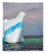 Iceberg Off The Coast Of Newfoundland Fleece Blanket