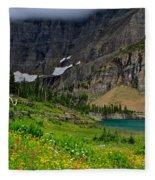 Iceberg Park Tarn Glacier National Park Montana Fleece Blanket