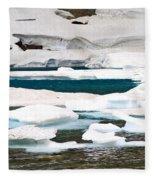 Icebergs In August Glacier International Peace Park Fleece Blanket