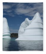 Icebergs Fleece Blanket