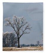 Iced Tree Fleece Blanket