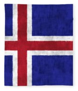 Iceland Flag Fleece Blanket