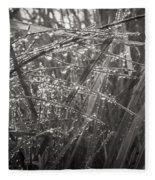 Iceland Mist Black And White Fleece Blanket