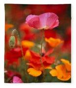 Iceland Poppies Papaver Nudicaule Fleece Blanket