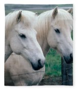Icelandic Horses Fleece Blanket