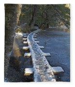 Icy Boardwalk Fleece Blanket