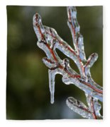 Icy Branch-7498 Fleece Blanket