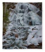 Icy Flow Of Water Fleece Blanket