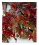 Icy Oak Fleece Blanket