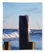 Icy Ocean Bulkhead Fleece Blanket