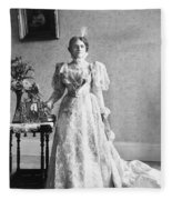 Ida Saxton Mckinley (1847-1907) Fleece Blanket