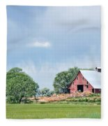Idaho Falls Barn Fleece Blanket