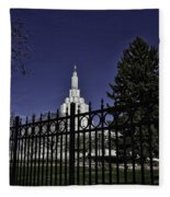 Idaho Falls Temple Series 4 Fleece Blanket