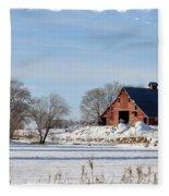 Idaho Falls Winter Fleece Blanket