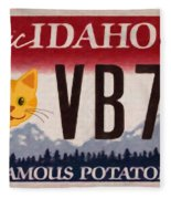 Idaho License Plate Fleece Blanket