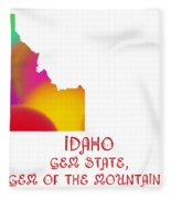Idaho State Map Collection 2 Fleece Blanket