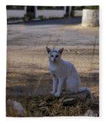 If Cats Could Talk Fleece Blanket