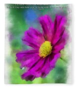 If Flowers Could Talk 01 Fleece Blanket