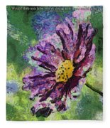 If Flowers Could Talk 04 Fleece Blanket