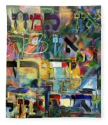 If There Is No Flour There Is No Torah 8 Fleece Blanket