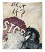 If What? Fleece Blanket