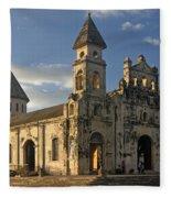 Iglesia De Guadelupe In Granada Nicaragua Fleece Blanket