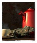 Iguana Coffee Fleece Blanket