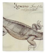 Iguana Fleece Blanket