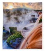 Iguazu Sunrise Fleece Blanket