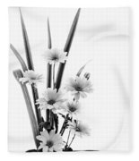Ikebana Daisies Fleece Blanket